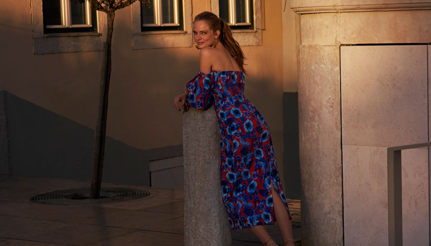 Posing on a Shadow Evening